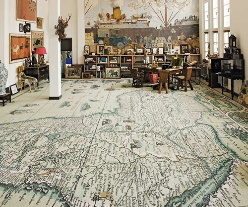 unique-floor-decoration-world-map
